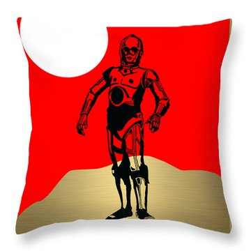 Star Wars C-3po Collection Throw Pillow