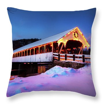 Stark New Hampshire Throw Pillow by Robert Clifford