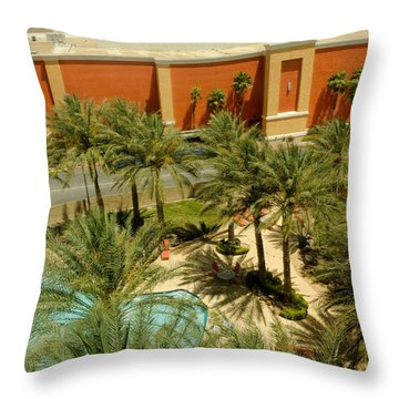 Staycation Upgrade Throw Pillow