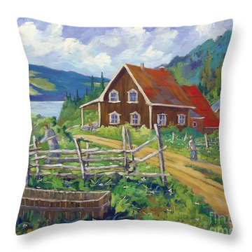 Ste Rose Du Nord  Throw Pillow