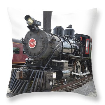 Steam Engline Number 349 Throw Pillow