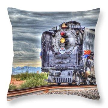Steam Train No 844 Throw Pillow