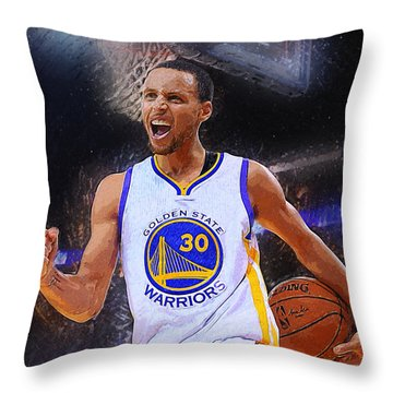 Stephen Curry Throw Pillow