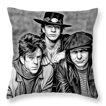 Stevie Ray Vaughan And Double Trouble Collection Throw Pillow by Marvin Blaine