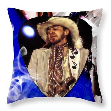 Stevie Ray Vaughan Art Throw Pillow