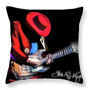 Stevie Ray Vaughan - Texas Flood Throw Pillow