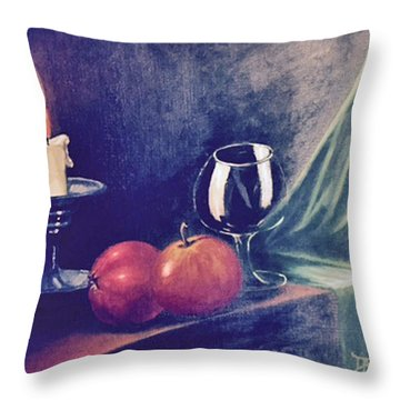 Still Life With Candle Throw Pillow
