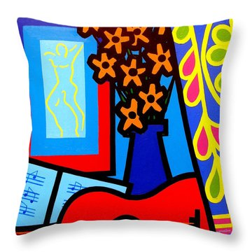 Yule Paintings Throw Pillows