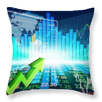Stock Market Concept Throw Pillow
