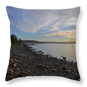 Stone Beach Throw Pillow