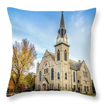 Stone Chapel Fall Throw Pillow