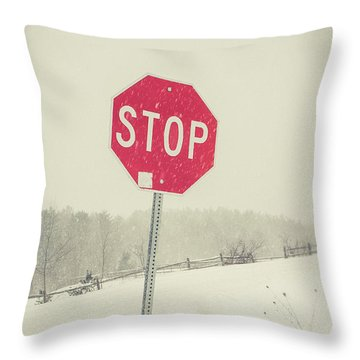 Throw Pillow featuring the photograph Stop by Edward Fielding
