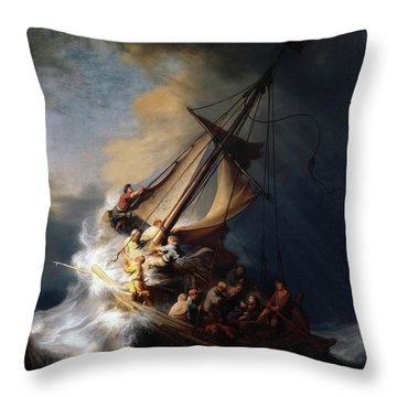 Storm On The Sea Of Galilee Throw Pillow