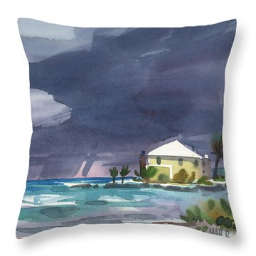 Storm Over Key West Throw Pillow