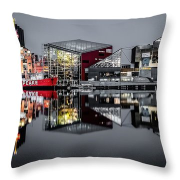 Stormy Night In Baltimore Throw Pillow