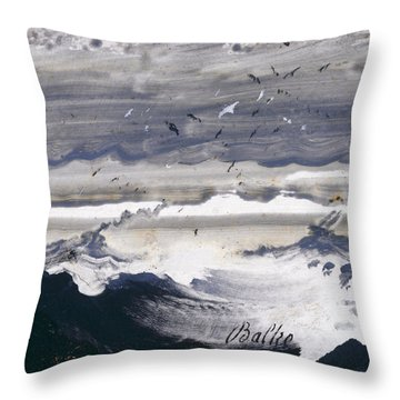 Stormy Sea Throw Pillow