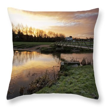 Stour Sunrise Throw Pillow