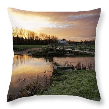 Stour River Sunrise Throw Pillow