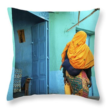 Street In Harar Ethiopia  Throw Pillow