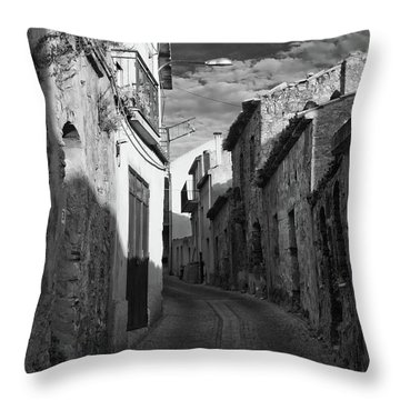 Street Little Town Throw Pillow