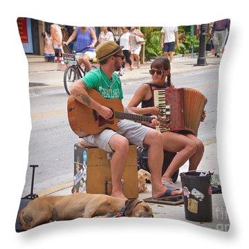 Street Melody Throw Pillow