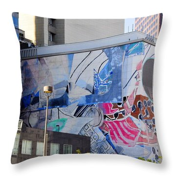 Street Photography Throw Pillow by Clayton Bruster