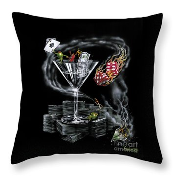 Strike It Rich Throw Pillow