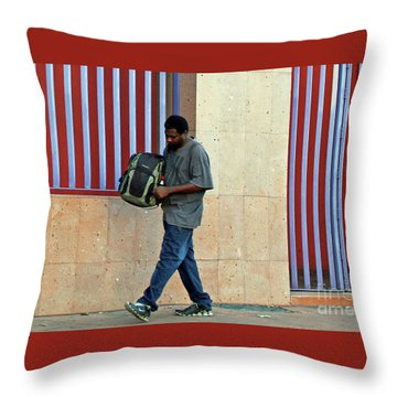 Throw Pillow featuring the photograph Stripes by Joe Jake Pratt