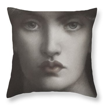 Study Of Jane Morris Throw Pillow