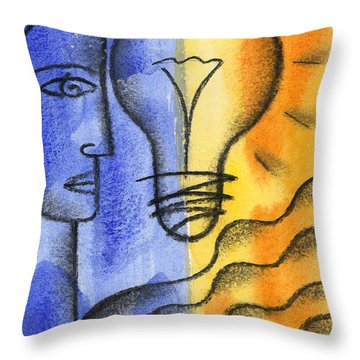 Throw Pillow featuring the painting Success by Leon Zernitsky