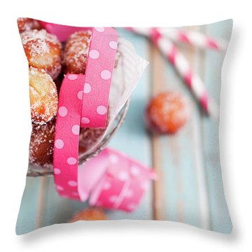 Sugar Donuts Throw Pillow