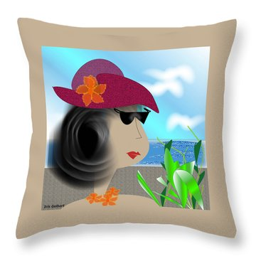 Summer,  I'm Ready Throw Pillow by Iris Gelbart