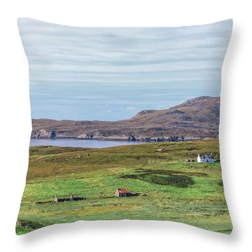 Summer Isles - Scotland Throw Pillow