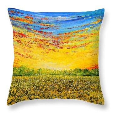 Summer Throw Pillow by Teresa Wegrzyn