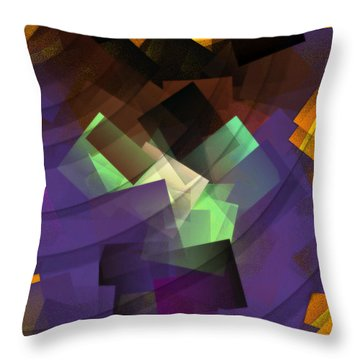 Throw Pillow featuring the photograph Sun Leaves by Luc Van de Steeg