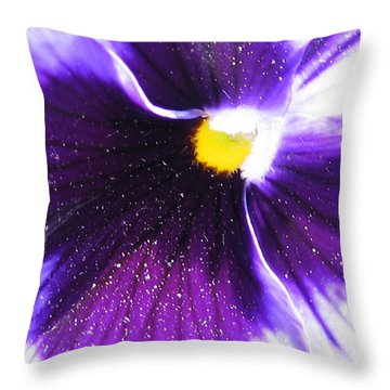 Sunburst Pansy Throw Pillow