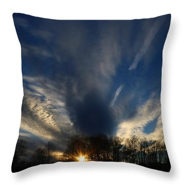 Sundown Skies Throw Pillow by Kathryn Meyer