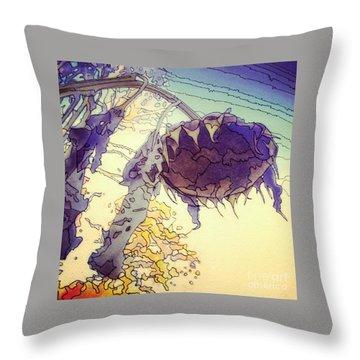 Sunflower Throw Pillow by A K Dayton