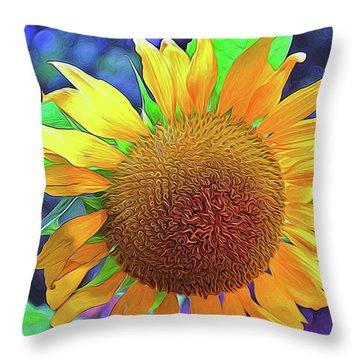 Throw Pillow featuring the photograph Sunflower by Allen Beatty