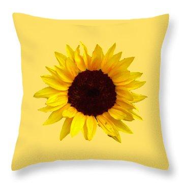 Throw Pillow featuring the photograph Sunflower by Jim Sauchyn