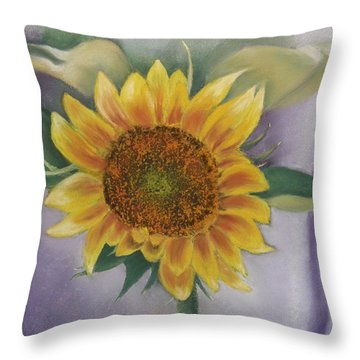 Sunflowers For Nancy Throw Pillow
