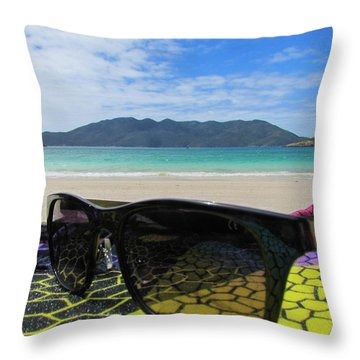 Sunglasses Throw Pillow