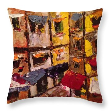 Sunny Side Of The Street Throw Pillow
