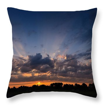 Sunrise At The Abbott Aviation Center Throw Pillow