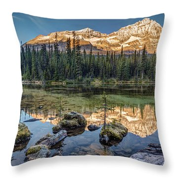 Sunrise In The Rocky Mountains Throw Pillow
