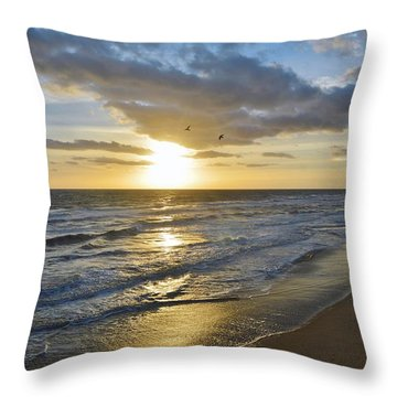 Sunrise On The Banks  Throw Pillow