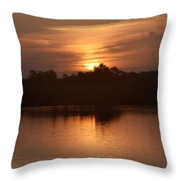 Sunrise On The Bayou Throw Pillow
