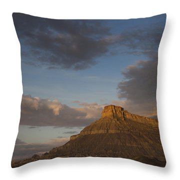 Sunrise Over Factory Butte Throw Pillow