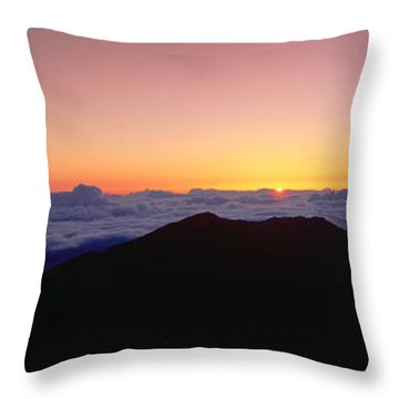 Sunrise Over Haleakala Volcano Summit Throw Pillow by Panoramic Images