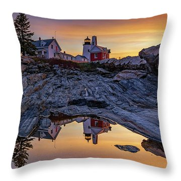 Sunrise At Pemaquid Point II Throw Pillow